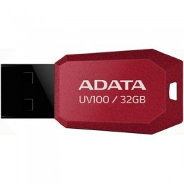 USB флеш накопитель ADATA 32GB DashDrive UV100 Red USB 2.0 (AUV100-32G-RRD)