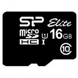 Карта памяти Silicon Power 16GB microSDHC class 10 UHS-I Elite (SP016GBSTHBU1V10)